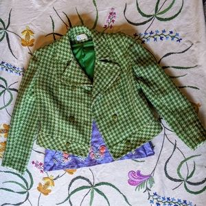 Vintage Meyer of Norwich green tweed jacket